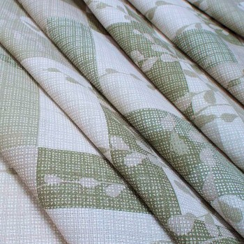 Скатертнаа ткань рогожка Вербное воскресенье оливковый 513071