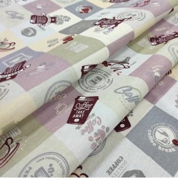 Скатертная ткань рогожка Эспрессо 554961