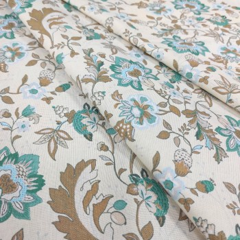 Скатертная ткань рогожка Китайские цветы 558271