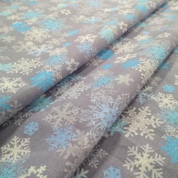 Новогодняя ткань для скатерти Льдинки 575761