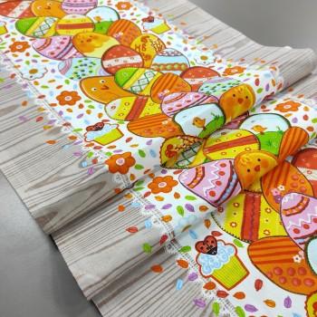 Ткань для дорожка раннер Пасхальные пряники 586461
