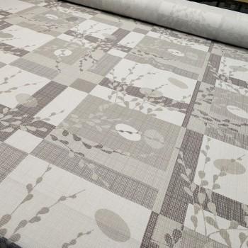 Скатертная ткань рогожка Вербное воскресенье беж 613071