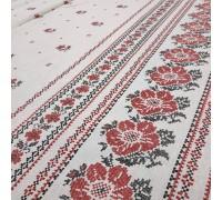 Скатертная ткань рогожка Украинский цвет