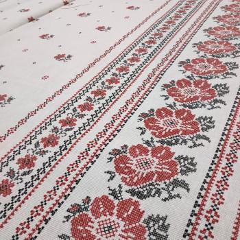 Скатертная ткань рогожка Украинский цвет 622731