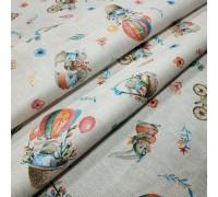 Скатертная ткань рогожка Пасхальный кролик