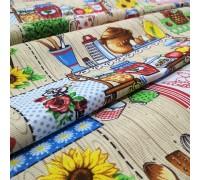 Скатертная ткань рогожка Домашний уют