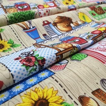 Скатертная ткань рогожка Домашний уют 671461