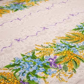 Скатертная ткань рогожка Мимоза 713071