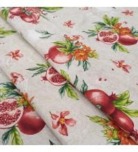 Скатертная ткань рогожка Гранаты