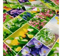 Скатертная ткань рогожка Первоцвет