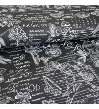 Скатертная ткань рогожка Версаль черный