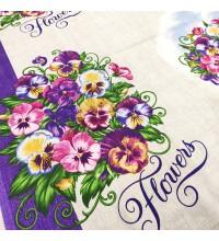 Скатертная ткань рогожка Виола