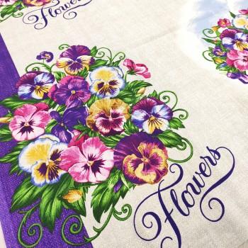 Скатертная ткань рогожка Виола 833071
