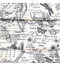 Скатертная ткань рогожка Версаль