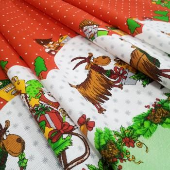 Новогодняя ткань для скатерти Вертеп 865761