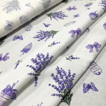 Скатертная ткань рогожка Сереневая дымка 886461