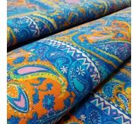 Скатертная ткань рогожка Восточный мотив