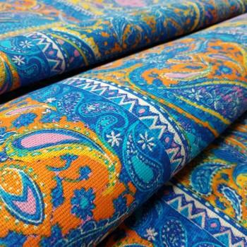 Скатертная ткань рогожка Восточный мотив 886831