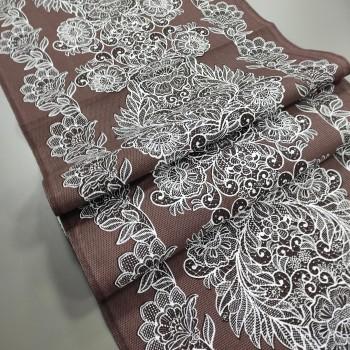 Ткань для дорожка раннер Изабель коричневый 943071