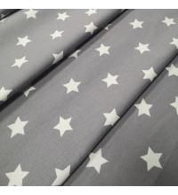 Декоративная ткань Звезды серый