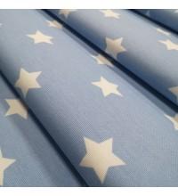 Декоративная ткань Звезды голубой