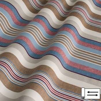 Декоративная ткань Stripe полоса голубой 180 см
