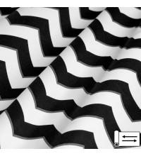 Декоративная ткань Зигзаг черный 180 см