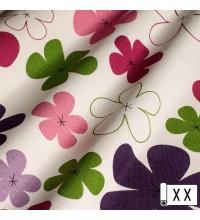 Декоративная ткань Джан цветы фиолетовый