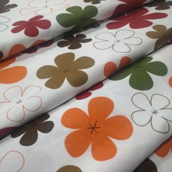 Декоративная ткань Джан цветы красный