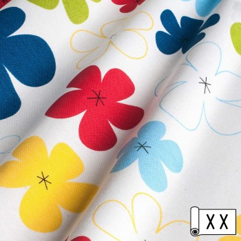 Декоративная ткань Джан цветы синий