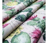 Декоративная ткань Цветущий кактус