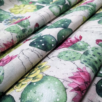 Декоративная ткань Цветущий кактус 078841