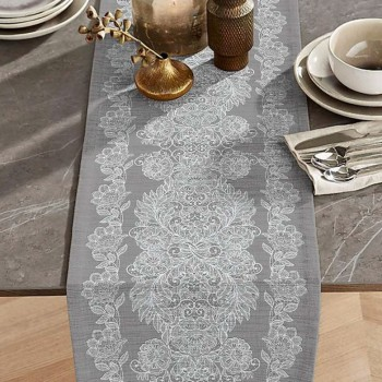 Дорожка на стол раннер Изабель серый 150443071