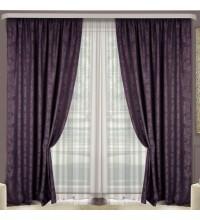 Комплект штор Эмель мрамор фиолетовый