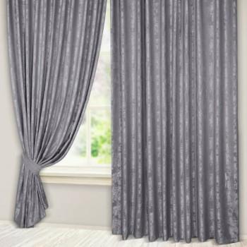 Комплект штор Эмель мрамор серый