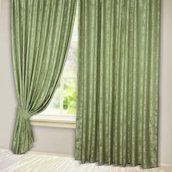 Комплект штор Эмель мрамор оливковый