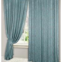 Комплект штор Эмель мрамор голубой 150*270 см