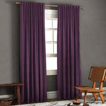 Комплект штор блэкаут рогожка фиолетовый