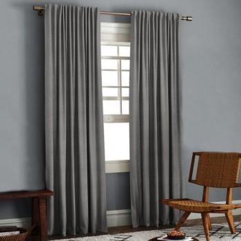 Комплект штор блэкаут рогожка темно-серый