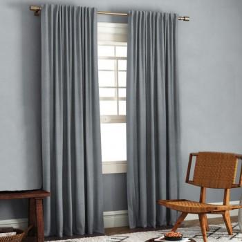 Комплект штор блэкаут рогожка серый