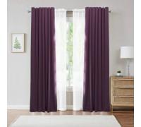 Комплект штор блекаут фиолетовый