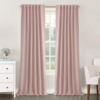 Комплект штор блекаут розовый жемчуг