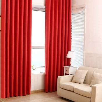 Комплект штор блекаут красный
