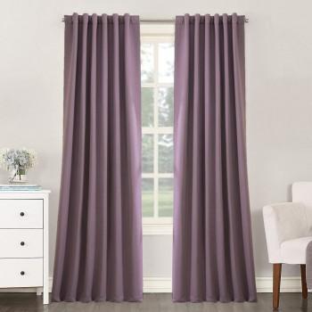 Комплект штор блекаут сизо-фиолетовый