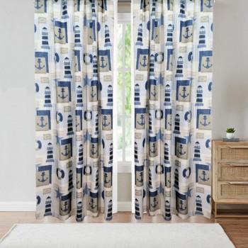 Комплект штор Маяки синий