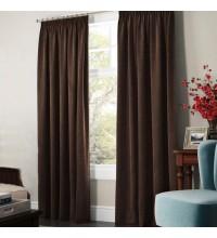 Комплект штор Даймонд коричневый