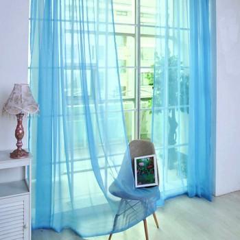 Готовый тюль вуаль Alana голубой 300358821