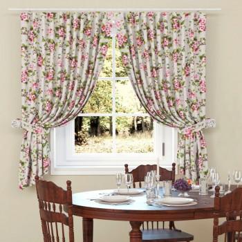 Комплект штор рогожка Вишневый цвет