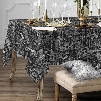 Скатерть рогожка Версаль черный 150771641