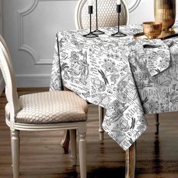 Скатерть рогожка Версаль белый 150846591